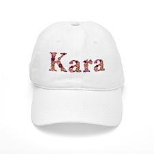 Kara Pink Flowers Baseball Baseball Cap