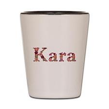 Kara Pink Flowers Shot Glass