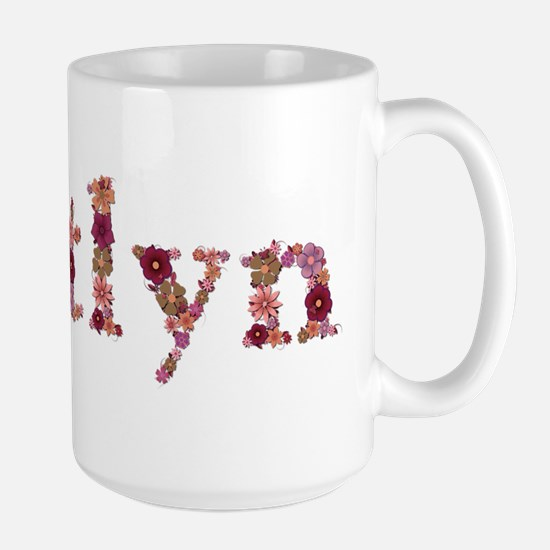 Kaitlyn Pink Flowers Mugs