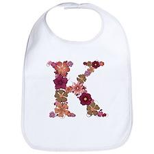 K Pink Flowers Bib