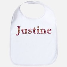 Justine Pink Flowers Bib