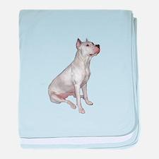 Dogo Argentino (Wht)-JTD baby blanket
