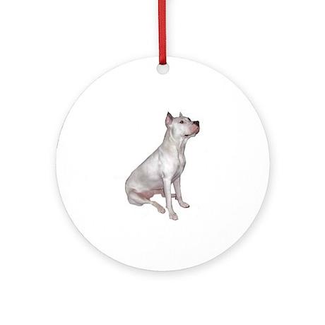Dogo Argentino (Wht)-JTD Ornament (Round)