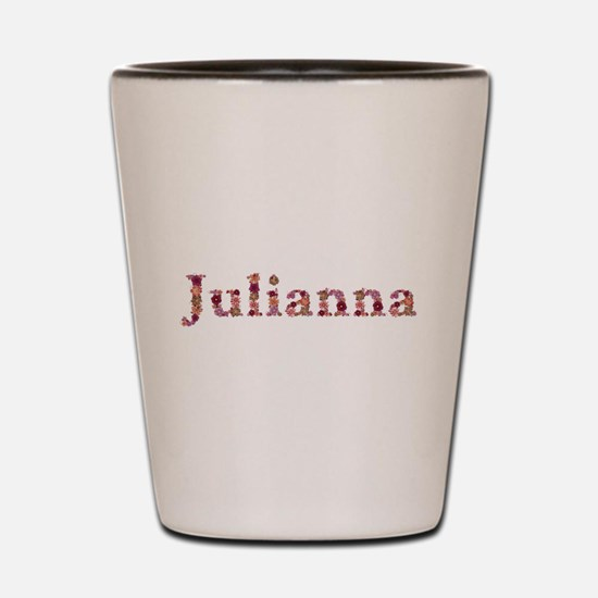 Julianna Pink Flowers Shot Glass