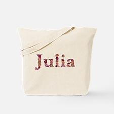 Julia Pink Flowers Tote Bag