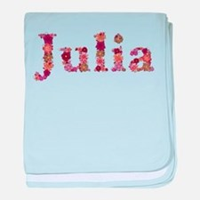 Julia Pink Flowers baby blanket