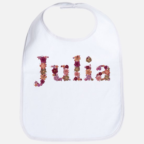 Julia Pink Flowers Bib