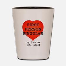 First Person Singular Shot Glass