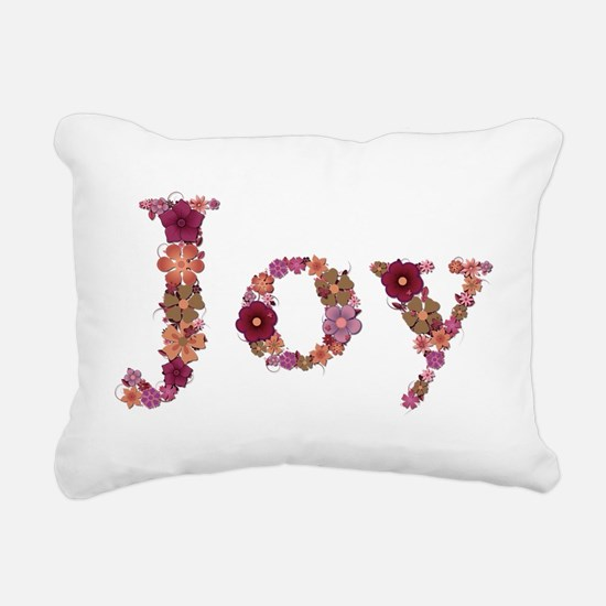 Joy Pink Flowers Rectangular Canvas Pillow