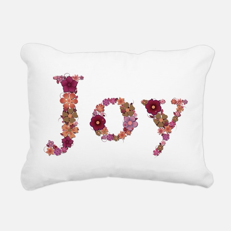 Joy Pink Flowers Rectangular Canvas Pillow