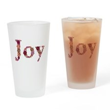 Joy Pink Flowers Drinking Glass
