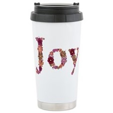 Joy Pink Flowers Travel Mug
