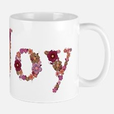 Joy Pink Flowers Mugs