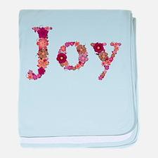 Joy Pink Flowers baby blanket