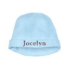Jocelyn Pink Flowers baby hat