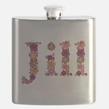 Jill Pink Flowers Flask
