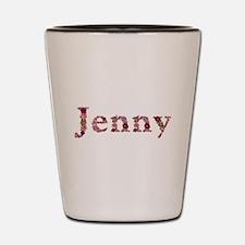 Jenny Pink Flowers Shot Glass