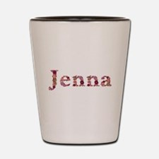 Jenna Pink Flowers Shot Glass