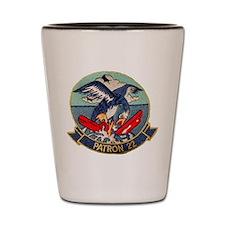 VP 22 Blue Geese Shot Glass