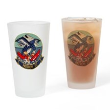 VP 22 Blue Geese Drinking Glass