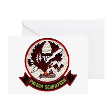 VP 17 White Ligtnings Greeting Cards (Pk Of 10)