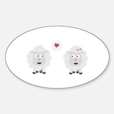 Sheeps in love with heart C7b4v Decal