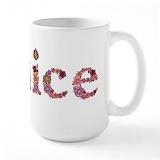 Janice Pink Flowers Mugs