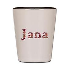 Jana Pink Flowers Shot Glass