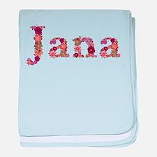 Jana Pink Flowers baby blanket