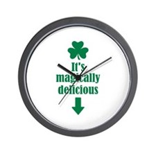 It's magically delicious shamrock Wall Clock
