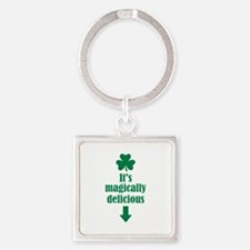 It's magically delicious shamrock Square Keychain