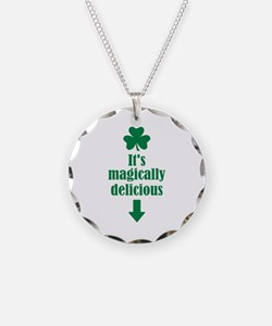It's magically delicious shamrock Necklace Circle