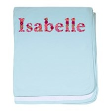 Isabelle Pink Flowers baby blanket