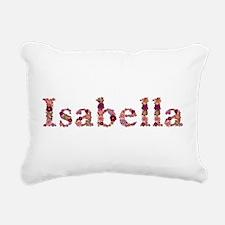 Isabella Pink Flowers Rectangular Canvas Pillow