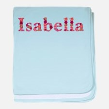 Isabella Pink Flowers baby blanket