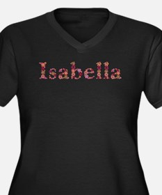 Isabella Pink Flowers Plus Size T-Shirt