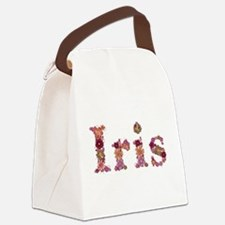 Iris Pink Flowers Canvas Lunch Bag
