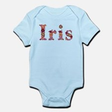 Iris Pink Flowers Body Suit