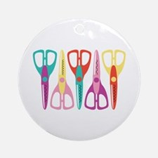 Scrapbooks Scissors Ornament (Round)