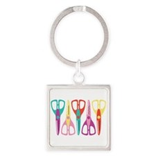 Scrapbooks Scissors Keychains