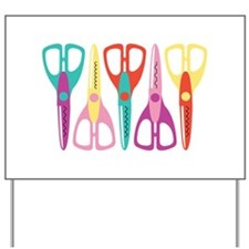 Scrapbooks Scissors Yard Sign