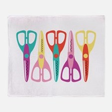 Scrapbooks Scissors Throw Blanket