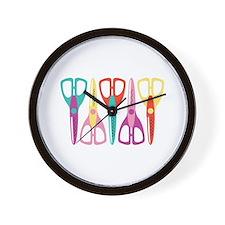 Scrapbooks Scissors Wall Clock