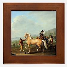Horse Trading Framed Tile