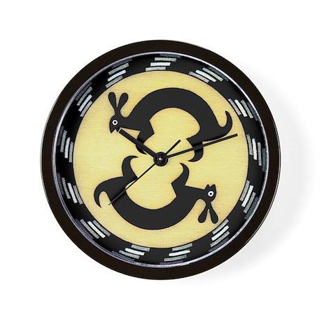 MIMBRES BUNNY RABBITS BOWL DESIGN Wall Clock