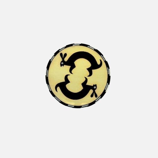 MIMBRES BUNNY RABBITS BOWL DESIGN Mini Button