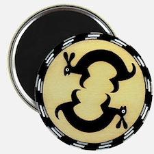 """MIMBRES BUNNY RABBITS BOWL DESIGN 2.25"""" Magnet (10"""