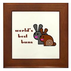 World's Best Buns Framed Tile