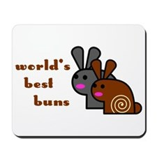 World's Best Buns Mousepad