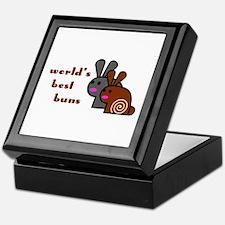 World's Best Buns Tile Keepsake Box